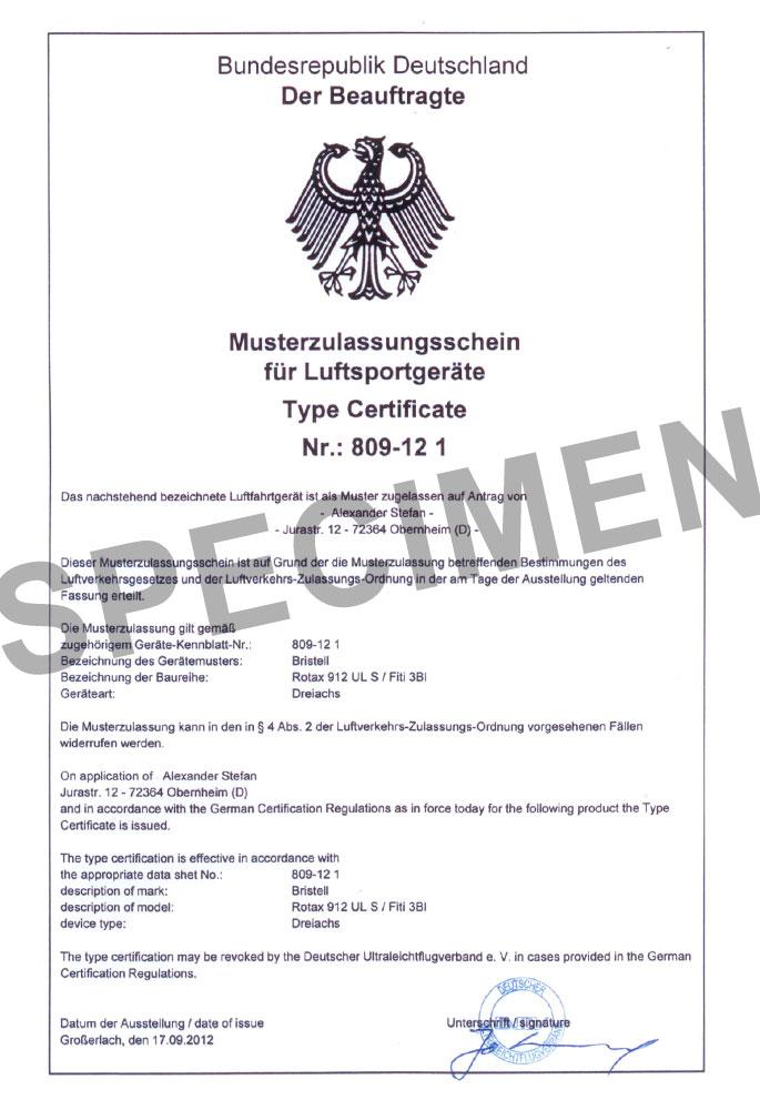 Zulassung Deutschland Luftsportgeräte